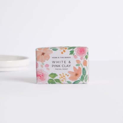 White & Pink Facial Soap Vera and the birds
